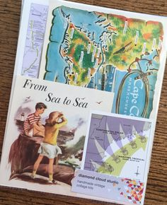 Let's Travel to Cape Cod Vintage by diamondcloudstudio on Etsy