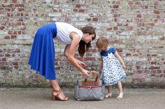 Babymel Cara Stripe Navy Changing Bag