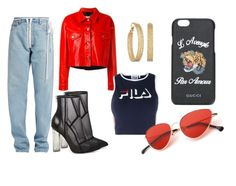 """""""New Era"""" by leslienunez-popi on Polyvore featuring Off-White, Steve Madden, Golden Goose, GUESS, Fila and Gucci"""