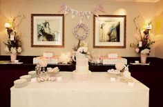 Pink Bunny Vintage Baby Christening Party