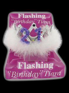 Flashing 21st Birthday Tiara - 21st Birthday Fancy Dress Ideas