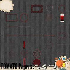 A Tomato Color Series Stitches - $2.99 : Caroline B., My Magic World of Digital Design