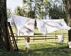 Airing out your laundry.