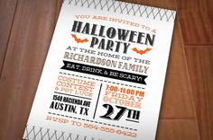 LETTERPRESS BATS Halloween Printable by PrintasticDesign on Etsy, $15.00
