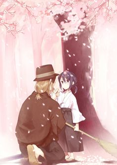 Yatogami Kuroh | Little Kuroh and Master Ichigen! Super cute!