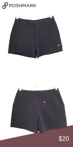 Nike black training running shorts XS Super cute in a thick nylon material. Velcro waist with zipper. Pocket in back. Bundle to save 25%! Nike Shorts