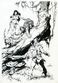 WFCBA plate 5 by John BUSCEMA, in Michel Maillot's John BUSCEMA Comic Art Gallery Room - 54349