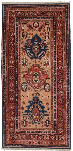 "Persian Heriz Hand Knotted Wool Rug - 5'1"" x 10'9"""