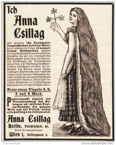 Original-Werbung/ Anzeige 1910 er Jahre - ANNA CSILLAG HAARPOMADE - ca. 90 x 115 mm