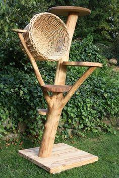Kratzbaum,+Katzenbaum,+Katzenhöhle+-Natur-Hell-+von+Nachhaltigkeit+auf+DaWanda.com