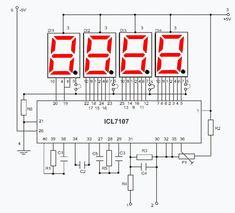 Digital volmeter with Electronics Mini Projects, Simple Electronics, Hobby Electronics, Electrical Projects, Electronics Components, Electronics Gadgets, Electrical Tools, Tech Gadgets, Electronic Circuit Design