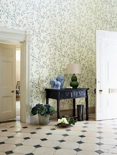 antique with wallpaper and tile