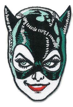 3.5 Cat Woman Iron-ON Patch Tim Burton 1991 Batman por PsychoSwami                                                                                                                                                                                 Más