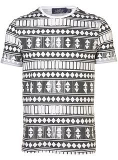 Topman Black and White Roll Crew