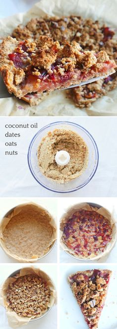 Healthy Plum Crumble Pie With Oats – Beauty Bites - Ostern - Healthy Plum Cru. - Healthy Plum Crumble Pie With Oats – Beauty Bites – Ostern – Healthy Plum Cru… – Health - Plum Recipes Healthy, Plum Crumble Recipes, Healthy Desserts, Fall Recipes, Vegan Recipes, Kabob Recipes, Fondue Recipes, Healthy Meals, Healthy Eating