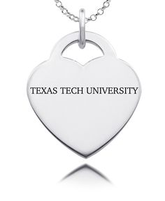 Show your spirit in style! Our heart charm is made from solid sterling silver. State of the art laser technology helps us duplicate your favorite logo in exact detail.