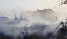 Ilya Ibryaev - At dawn - watercolor -53х30 cm