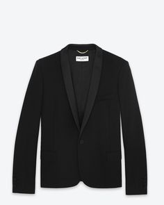 Saint Laurent Veste De Smoking Iconique En Laine Noire