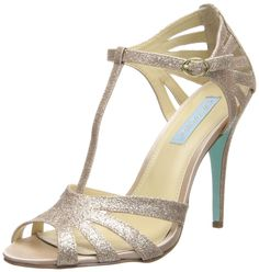 Blue by Betsey Johnson Women's SB-Tee Dress Pump,Champagne,10 M US