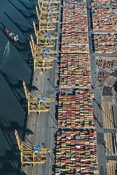 Harbour aerial views by Bernhard Lang