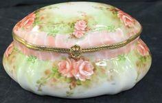 shopgoodwill.com: Limoges China Trinket Box w/Floral Design