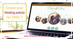 Create Your Own Personal Free Wedding Website Here: http://shaadiamantran.com