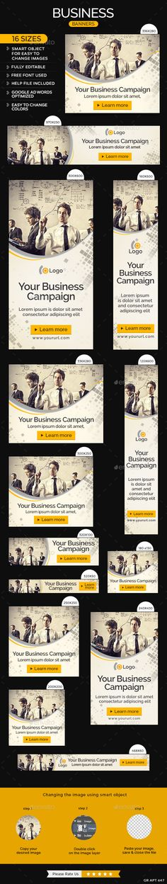 Business Banners Template #ads #banners Download: http://graphicriver.net/item/business-banners/11581968?ref=ksioks