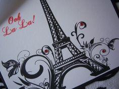 Parisian Sweet 16 Quinceañera Invitations Paris French Eiffel Tower