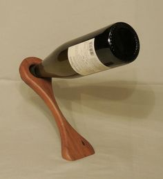 Unique, Curved Wine Bottle Balancer, Holder, Reclaimed Lumber