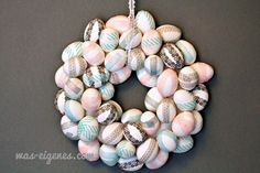 DIY Eierkranz (Osterdekoration selbermachen) / DIY egg wreath / easter decoration / was eigenes Blog