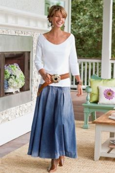 Modest Clothing for Women: Modest Denim Skirts