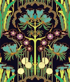 Nouveau Art Nouveau design by Amy Butler | http://thatbohemiangirl.tumblr.com/post/45779937994/nouveau-art-nouveau-design-by-amy-butler