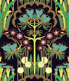 Nouveau Art Nouveau design by Amy Butler | http://thatbohemiangirl.tumblr.com/post/45779937994/nouveau-art-nouveau-design-by-amy-butler