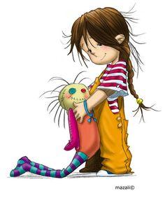 Cute illustration by Mazali Art And Illustration, Illustration Mignonne, Cute Images, Cute Pictures, Art Fantaisiste, Art Mignon, Dibujos Cute, Whimsical Art, Cute Drawings