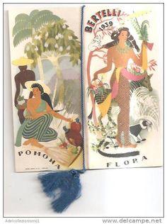 calendario bertelli  anno 1939