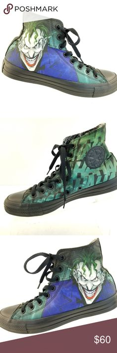d063f07be Shop Women s Converse Black Green size 9 Lace Up Boots at a discounted  price at Poshmark. Description  Converse Chuck Taylor All Star DC Comics  THE JOKER Hi ...