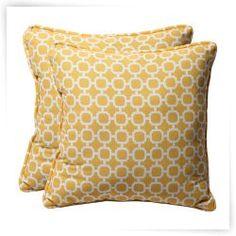 Pillow Perfect 18.5 x 18.5 Outdoor Geometric Toss Pillows - Set of 2