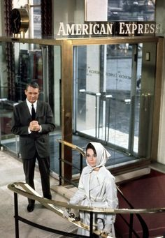 """Charade"" (1963, dir. Stanley Donen) Cary Grant and Audrey Hepburn"