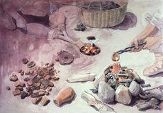 Bronze smelting in the Viking Age by Flemming Bau Viking Images, Paleolithic Art, Nordic Vikings, Viking Culture, Viking Life, Aarhus, Dark Ages, Bronze Age, Character Design Inspiration