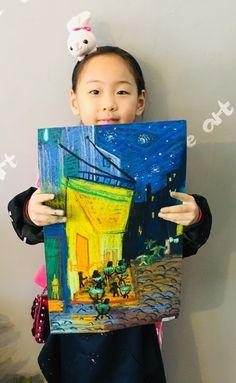 빈 센트 반 고흐[킨더 (초등) 수업 / 시흥시 정왕동 배곧 미술학원 - 창의미술 크리아트 ] : 네이버 블로그 Art For Kids, Crafts For Kids, Van Gogh Art, Student Drawing, Chef D Oeuvre, Art Lessons Elementary, Chalk Pastels, Art Lesson Plans, Vincent Van Gogh