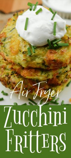 The Best Air Fryer Zucchini Fritters Zucchini Fritters that are made right in your air fryer. Pair with a creamy dip or sprinkle with salt and sink your teeth into these tasty fritters! Air Fryer Recipes Vegetarian, Air Fryer Recipes Snacks, Air Frier Recipes, Air Fryer Recipes Breakfast, Healthy Recipes, Air Fryer Recipes Zucchini, Breakfast Meals, Fish Recipes, Vegetable Recipes