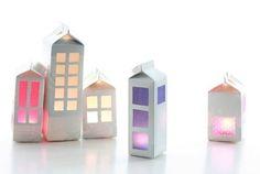 huizenlantaarns knutselen met kleuters