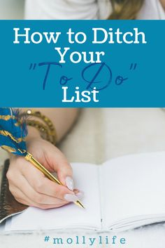 """Learn how to ditch your """"to do"""" list and feel good at the end of the day!"""
