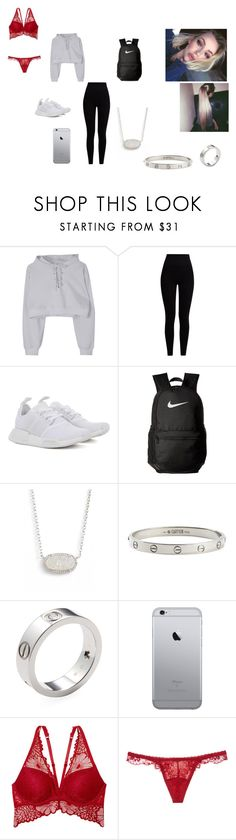 """School"" by daddyaubs on Polyvore featuring Pepper & Mayne, adidas Originals, NIKE, Kendra Scott, Cartier, Victoria's Secret and La Perla"