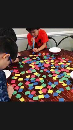 Kids Activities At Home, Toddler Learning Activities, Preschool Activities, Babysitting Activities, Montessori Preschool, Preschool Kindergarten, Summer Activities, Indoor Games For Kids, Diy For Kids
