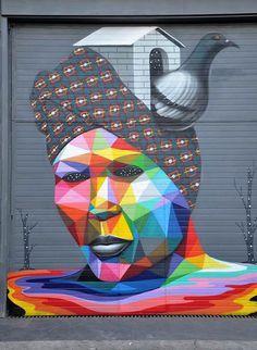 Street art – Les dernières créations de Okuda   Ufunk.net