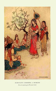 Indian myth and legend - ill Warwick Goble via Flickr.