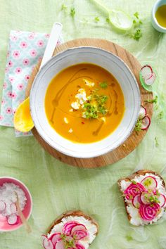 Red Kuri Squash and Apple Soup with Tarragon and Coriander