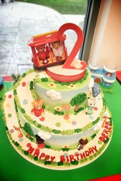 Our Daniel Tiger theme cake! Porto's Bakery Glendale; Daniel Tiger cake. Daniel Tiger's Neighborhood Cake!