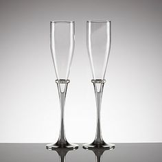 LENOX Wedding Reception  - Devotion 2-piece Crystal Flute Set   #Lenoxweddingcolors